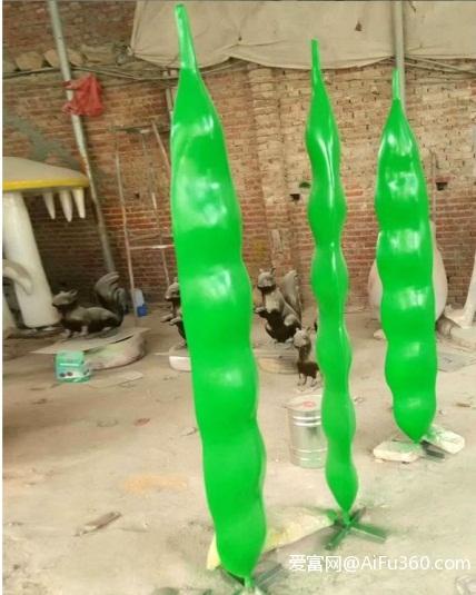 观赏植物的玻璃钢豆角雕塑模农庄装饰摆件
